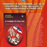 Valerio di Donato presentazione libro: Le fiamme dei Balcani